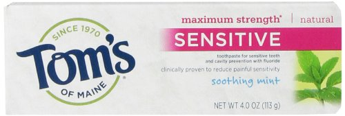 Tom's of Maine Maximum Strength Sensitive Natural Toothpaste