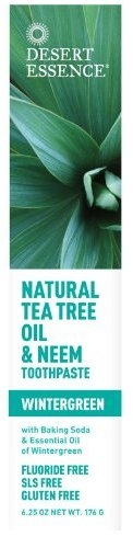 Desert Essence Natural Tea Tree Oil and Neem Toothpaste